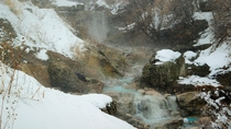 Hot Springs amid snowfall Provo UT OC  x