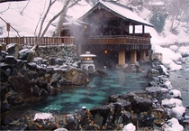 Hot springs in Japan photograph by John Cramer