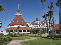 Hotel del Coronado - Coronado California USA - One of the few surviving examples of an American architectural genre the Wooden Victorian beach resort - Designed by Reid amp Reid Architectural and Engineering firm in  - The nd largest wooden structure in t