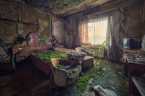 Hotel room in the abandoned Hotel Del Salto Colombia