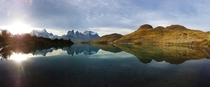 Hours and hours of trekking to finish with this amazing sunset Torres Del Paine - Chile