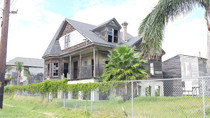House abandoned after Hurricane Ike in Galveston Texas