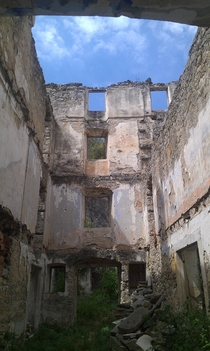 House abandoned in Croatia after the war