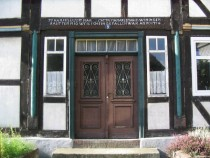 House entrance in Eschershausen Lower Saxony Germany