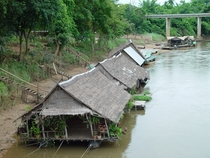 Houseboats on the River Kwai with bonus bridge