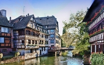 Houses in Strasbourg Alsace France