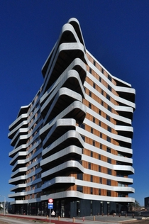 Housing Hatert a  apartment -storey-high tower which was completed in  located in Nijmegen Netherlands Designed by Rotterdam studio H architecture
