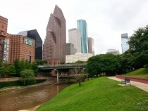 Houston Downtown on the Bayou