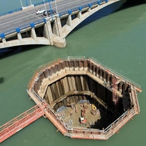 How bridge foundations are laid in waterways