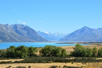How lucky am I to have this as my back yard Lake Tekapo and the Southern Alps - New Zealand