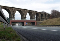 How to preserve an  year old bridge while building an Autobahn beneath it Chemnitz Germany