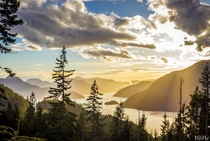 Howe Sound British Columbia  Sunset