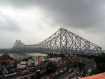 Howrah Bridge Kolkata India built in  With a daily traffic of  vehicles it is the worlds busiest cantilever bridge