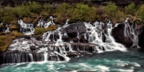 Hraunfossar the waterfall that pours out of the earth Where else but Iceland   x  px