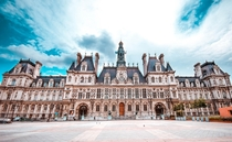 Htel De Ville Paris located in Paris France Built  rebuilt  Renaissance Revival