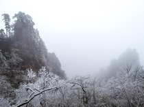 HuangShan China encased in ice