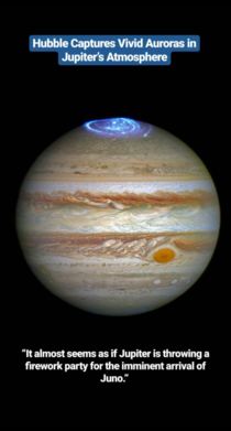 Hubble Captures Vivid Auroras in Jupiters Atmosphere source NASA
