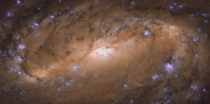Hubble has produced an unprecedented image of the central region of spiral galaxy NGC  CreditNASAESA