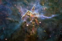 Hubble image of Mystic Mountain deep in the Carina Nebula  xpost from rPureAwesomeness
