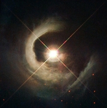Hubble just released this awesome new image of a star  light years away called V Cyg which resides within a dark nebula