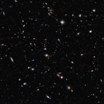 Hubble Pic looks  billion light-years away a cross-section of the Universe