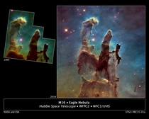 Hubble Revisits the Famous Pillars of Creation with a new lens