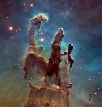 Hubble th Anniversary Pillars of Creation Photo Credit Hubble Space Telescope I know you have probably all seen the pillars of creation before they are a very famous mass of space dust after all so Im posting for those who havent seen it before