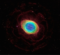 Hubbles image of the Ring Nebula and its true shape in visible light