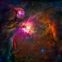 Hubbles Orion Nebula with a bit of vibrance and shadow enhancement