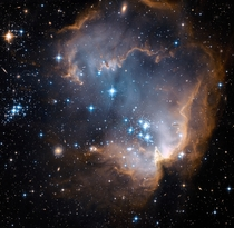 Hubbles view of N star-forming region