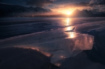 Huge slabs of ice on frozen lake in Canada I miss winter already Abraham Lake AB