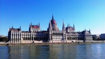 Hungarian House of Parliament in Budapest Taken from the Danube during my trip in late October Designed by Imre Steindl