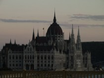 Hungarian Parliament Building Budapest at dusk