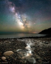 Hunters Beach at Night - Acadia National Park Maine