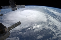 Hurricane Gonzalo moving toward Bermuda photographed by astronaut Alexander Gerst from ISS