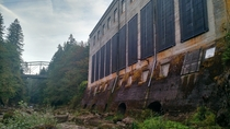 Hydroelectric powerhouse near Sandy Oregon