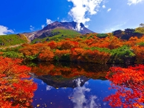 Hyoutan pond and Mt Chausu Tochigi Japan
