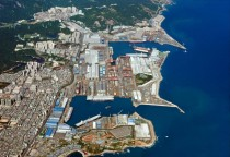 Hyundai Heavy Industries shipyard in Ulsan South Korea - the largest in the world