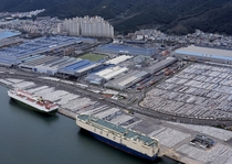 Hyundai Motors plant in Ulsan South Korea