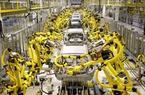 Hyundai vehicle assembly line