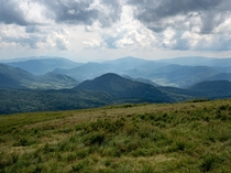 I absolutely love this feeling of wide open space that surrounds you when you climb higher and higher Bieszczady Mountains South-East Poland