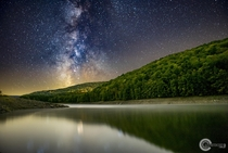 I almost got stuck in a lake and completely stranded at night to get this shot But for the last time of the year to shoot the Milky Way here it was worth it - Peptacon Reservoir NY