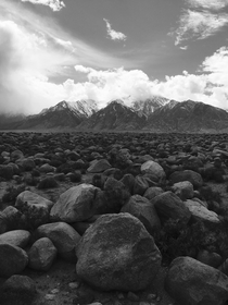 I also also tried to channel my inner Ansel Adams Manzanar Historic site California Shot with iPhone