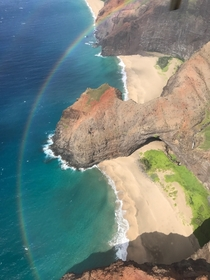 I also got the chance to catch a single engine cessna flight around the Npali Coast in Kauai Hawaii It happened to be right as a rain storm left and I captured this amazing photo of a double rainbow