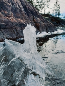 I always get amazed over how water can freeze in so many beautiful ways Vrmland Sweden