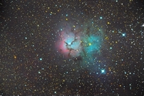 I am a  year old amateur astrophotographer back with my latest pic The trifid nebula