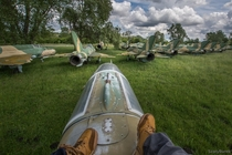 I am in the cemetery of aircraft in Hungary