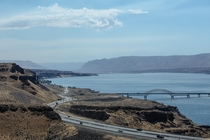 I- and the Vantage Bridge in Washington State