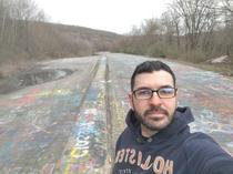 I bet its cheating but this is the painted highway in Centralia PA First time Ive been on it and no one is here