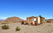 I camped for a week at this abandoned cabin south of Death Valley while I worked nearby She may not look like much but I was incredibly thankful that it was there Photo by William Burdette Johnson